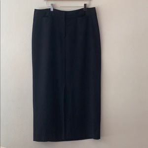 Lane Bryant Black Skirt With Slit In The Front 14